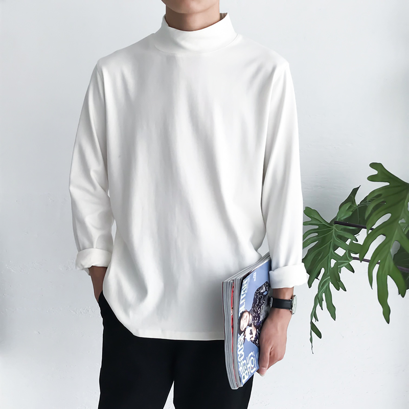 2018 Men's Cotton Clothes Long Sleeves Casual Hoodies Sweatshirts Multicolor Pullover Coats Bottoming Shirt Big Size M-5XL