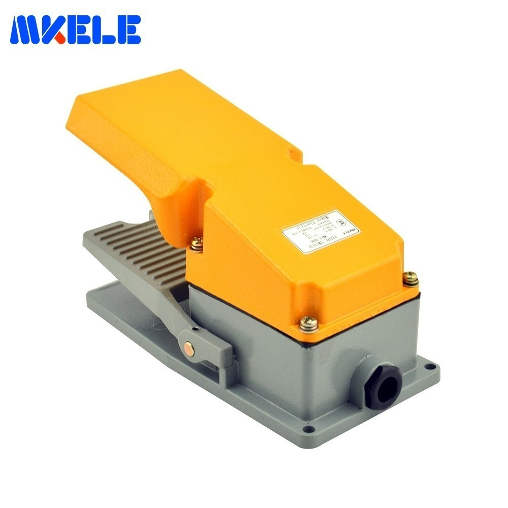 Universal 15A 380VAC Aluminium Alloy Dual Foot Pedal Switch Contact MKLT-302H Machine Tool Accessories Switch 50-60Hz NO/NCUniversal 15A 380VAC Aluminium Alloy Dual Foot Pedal Switch Contact MKLT-302H Machine Tool Accessories Switch 50-60Hz NO/NC