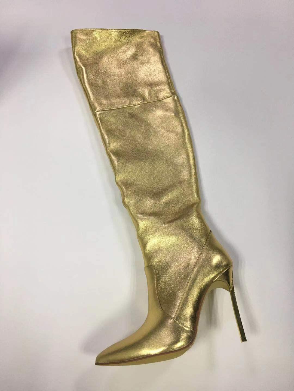 Zapatos Chaussures Lame 8 Cm Sur 10 Pointu Le Sexy Mode Genou Printemps Hauts Stade Bout Cm Mujer Talons Cuissardes Chevalier Bottes SMVGqzUp