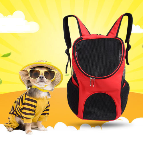 Outdoor Double Shoulder Dog Bag Backpack Pet Travel Dog Cat Carrier Mesh Windows 3