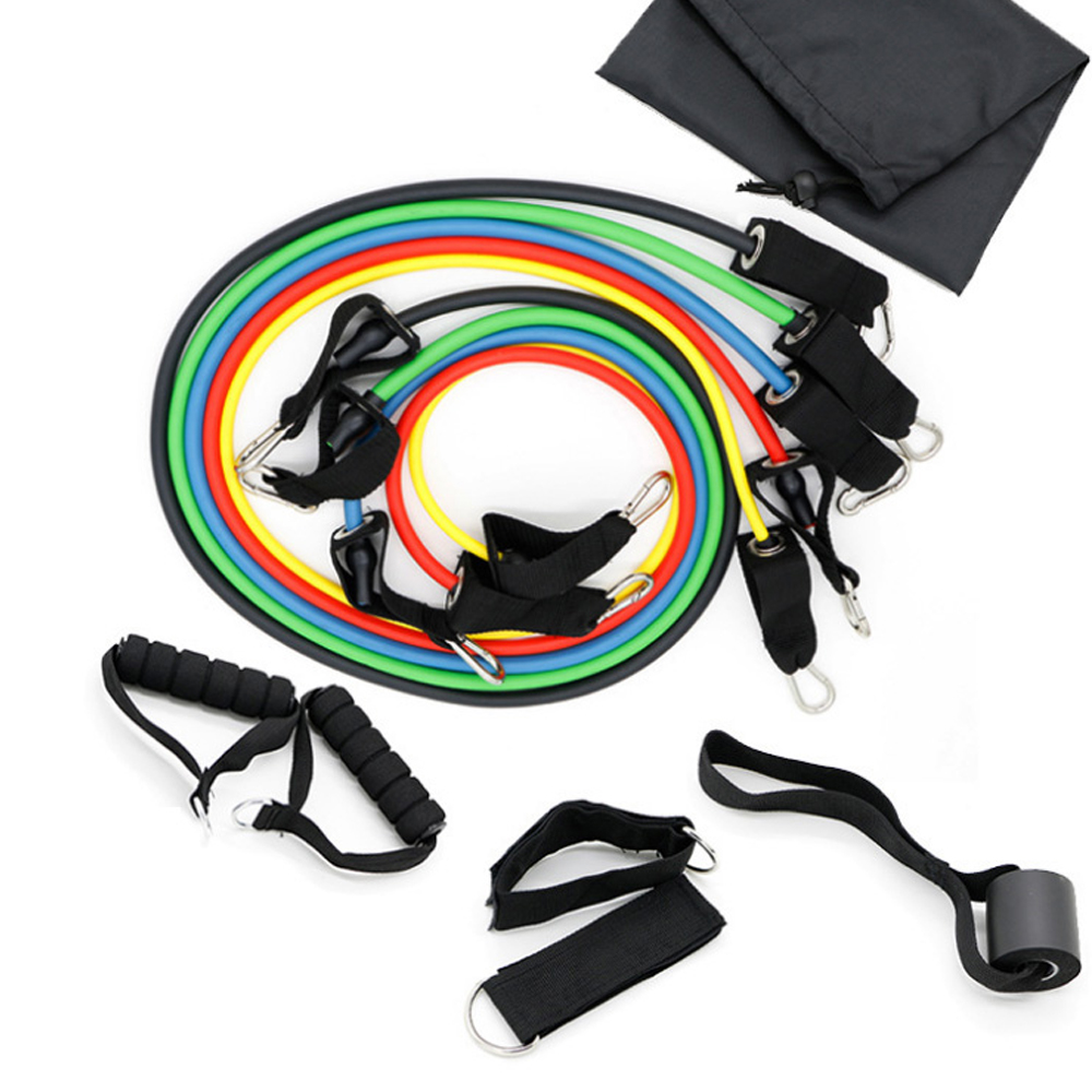 Adjustable Pull Rope Fitness Exercises Resistance Bands Sets Crossfit Rubber Expander Elastic Body Training Workout For Sports