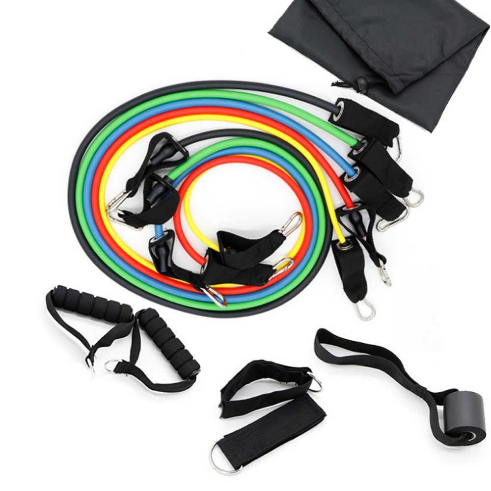 Einstellbare Pull Seil Fitness Übungen Widerstand Bands Sets Crossfit Gummi Expander Elastische Körper Training Workout für Sport