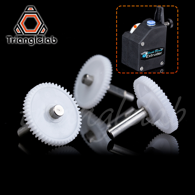 Trianglelab BMG EXTRUDER SHAFT ASSEMBLY GEAR  Single and Dualdirect extruders Including setscrew for primary 1.75/5.0 drivgear