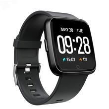 Y7 smart watch IP67 wodoodporna fitnes Tracker tętna Monitor ciśnienia krwi kobiety mężczyźni zegar smartwatch dla Androida IOS tanie tanio Passometer Tracker fitness Uśpienia tracker Wiadomość przypomnienie Przypomnienie połączeń Pilot zdalnego sterowania