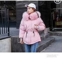 Fashion Women Clothes Winter Coat Raccoon Fur Collar Warm Coats Woman Long Outerwear Thicken Parkas Down Jacket Plus Size Xxxl