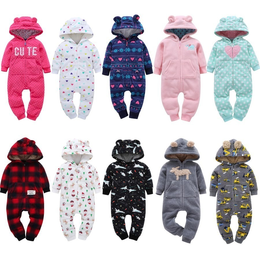 Winter Baby   Rompers   Cotton Baby Boy Clothes Warm Newborn Baby Clothes Cartoon Baby Girl Clothes Infant Jumpsuits Kids Clothing