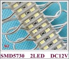 26mm * 07mm 2 led SMD 5730 LED module lumière lampe LED rétro éclairage pour mini signe et lettres DC12V 2led IP65