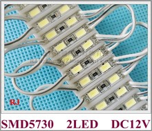 Módulo de luz led SMD 5730 de 26mm x 07mm 2 LED, luz trasera LED para mini señal y letras DC12V 2 led IP65