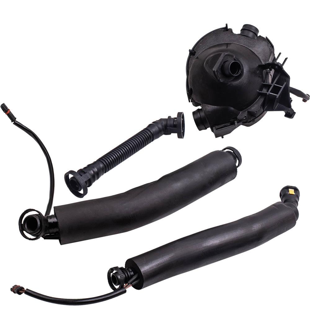 Système de récupération des gaz du carter moteur Tuyaux Séparateur D'huile Kit (4 pc) pour BMW E60 E85 E90 530i Z4 Carter pour E87 E86 E90 E91 E60 E65 1er 3er 5er
