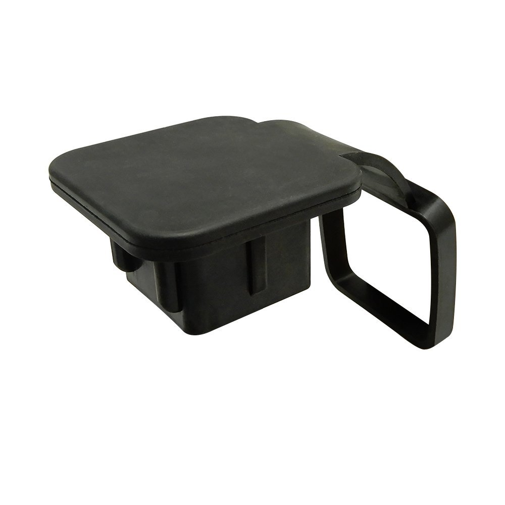 DHBH-2 Inch Trailer Hitch Cover Plug Cap Rubber Fits 2 Inch Receivers Class 3 4 5 For Toyota Ford Jeep Chevrolet Nissan Dodge