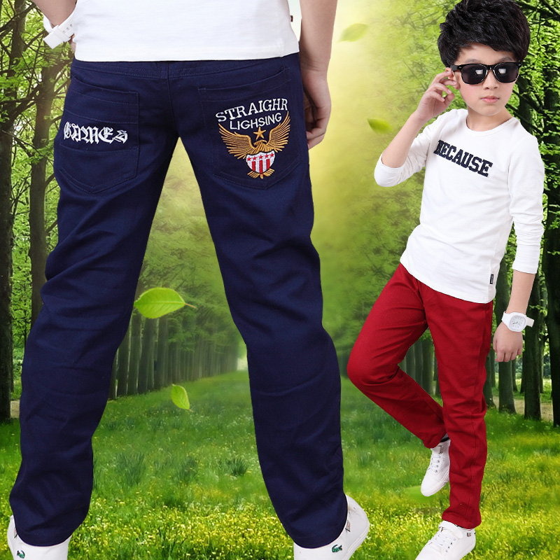 Children's Wear Boy's Pants Spring and Autumn with New Cotton Slacks 3-10 <font><b>12</b></font> <font><b>16</b></font> Ages Boy Pants Kids Leggings Clothes <font><b>12</b></font> Years image