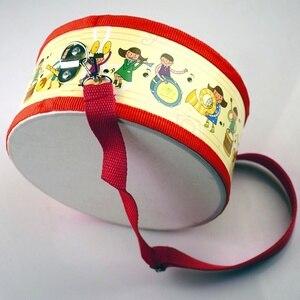 Image 2 - Tambor de madeira crianças cedo educacional instrumento musical para crianças brinquedos do bebê bater instrumento mão tambor brinquedos