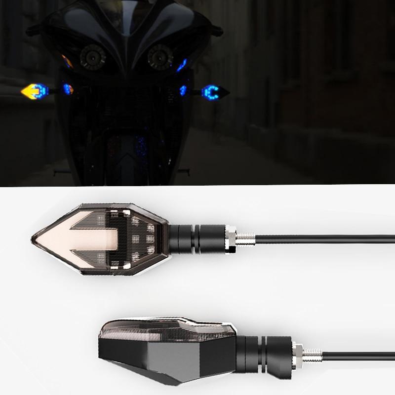 1Pair Motorcycle LED Turn Signal Light Flashing Headlight 12V motorbike Signal Light Blinker Lamp Turn Light Moto Accessories