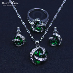 Classic Round Green Cubic Zirc
