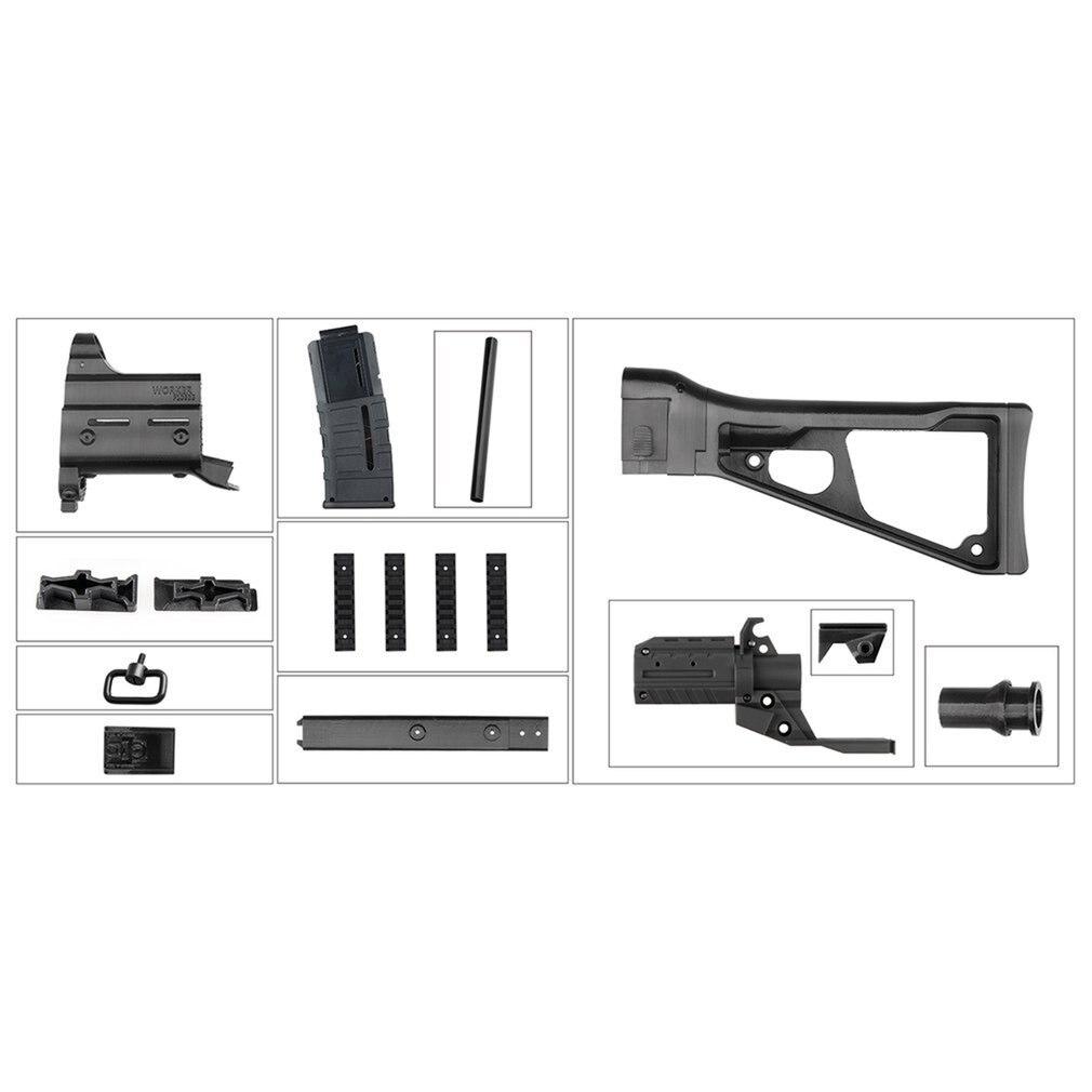 STF-W023 ouvrier UMP9 Style Mod Kits ensemble avec adaptateur noir pour pistolet jouet Nerf n-strike Elite Stryfe Blaster