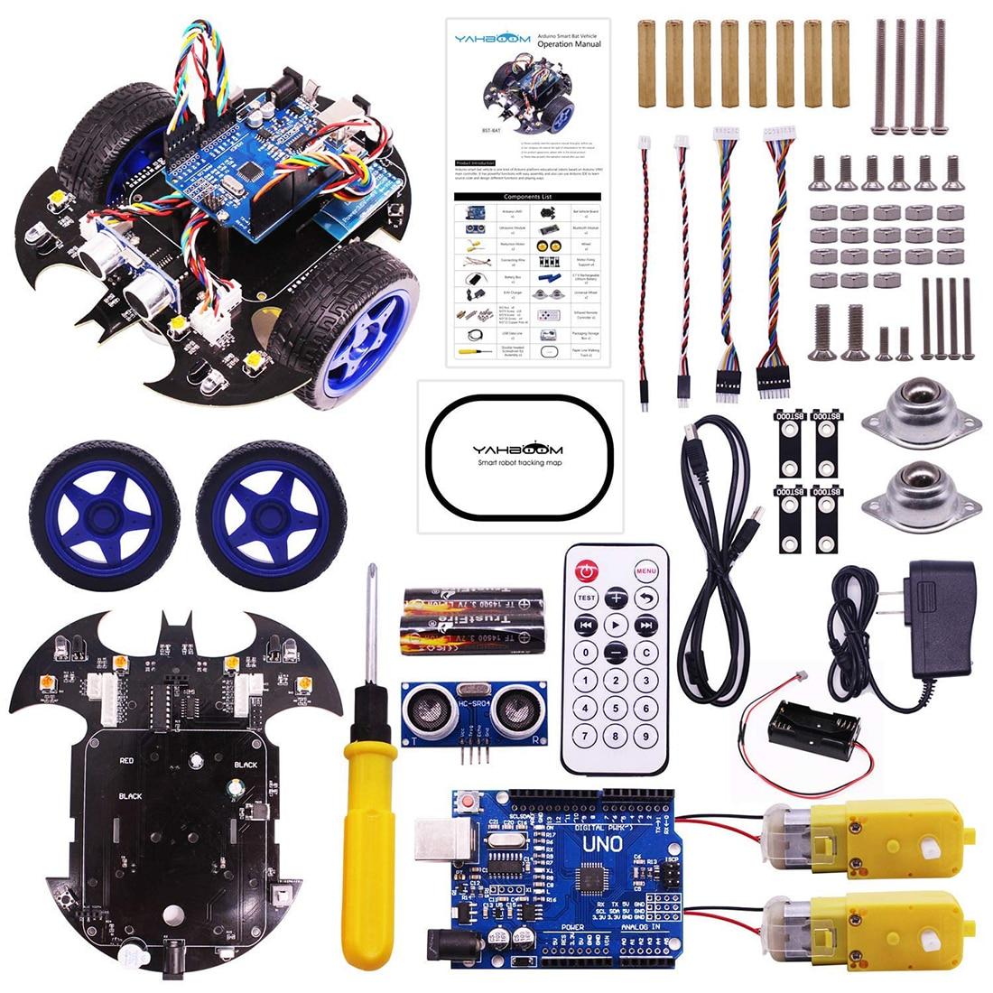 Rowsfire Bat Robot inteligente coche proyecto completo Starter Tutorial alta tecnología programable juguete para Arduino Kit de prueba para niños adultos-in Juguetes programables from Juguetes y pasatiempos    1