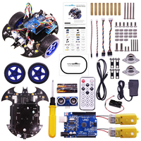 Rowsfire Bat Smart Robot Car Project Complete Starter Tutorial High Tech Programmable Toy For Arduino Test Kit For Kids Adult