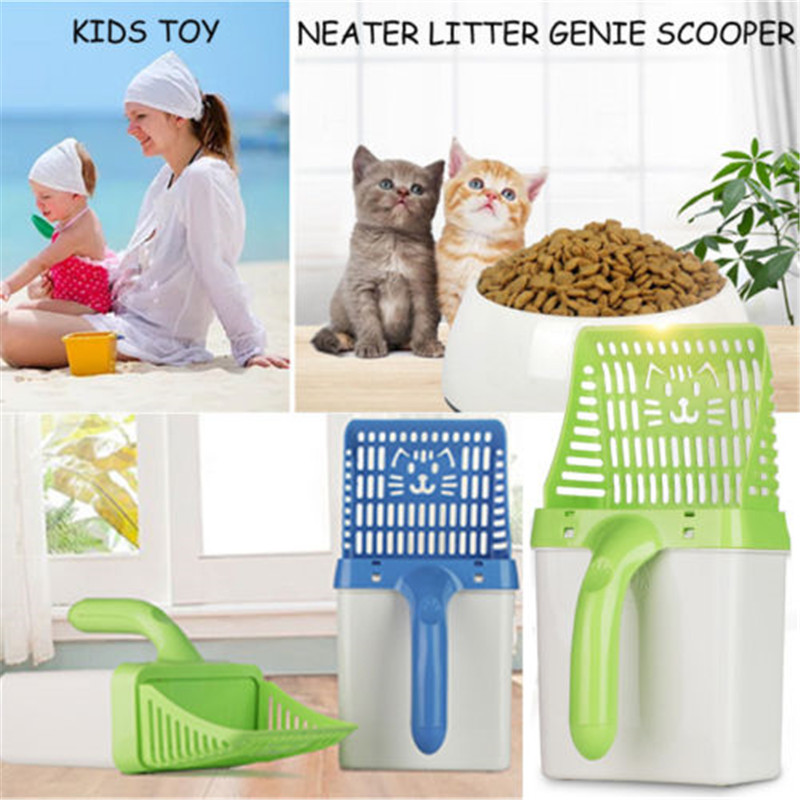 Neater Litter Scooper Cat Sifter Scooper Sifter Filter System New  Portable Pet cleaning storage Pooper Scooper