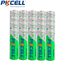 20PCS PKCELL AA 2200MAH 1.2V NI MH rechargeable batteries low self discharge aa battery and 5pcs battery box for AA/AAA batteria