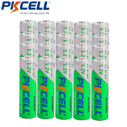 20PCS PKCELL AA 2200MAH 1.2V NI-MH rechargeable batteries low self discharge aa battery and 5pcs battery box for AA/AAA batteria