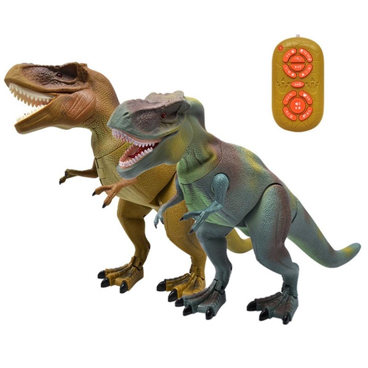 Télécommande Marche Dinosaure Jouets Smart Électronique RC Tyrannosaurus Lumière Son Action Jouet Enfants Enfants Jouets Éducatifs