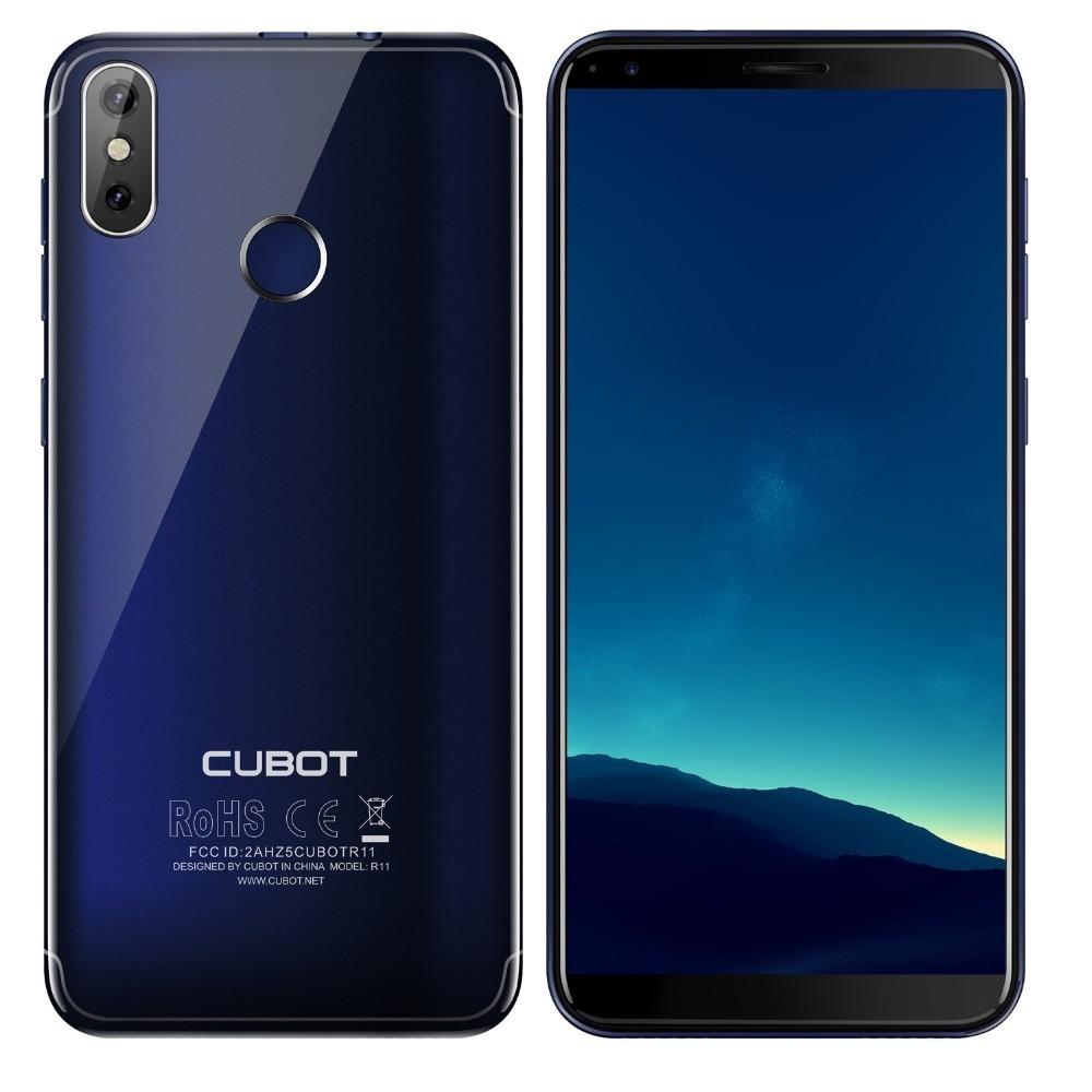 Cubot r11 android 8.1 5.5 3g smartphone 18:9 hd + tela mt6580 quad core celular 2g ram 16g rom duplo voltar câmeras telefones celulares - 4