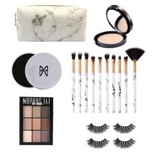 16pcs Fascinating Makeup Kit With Makeup Brush Eye Shadow Powder False Eyelash Makeup Set   Beginner Cosmetic Suit