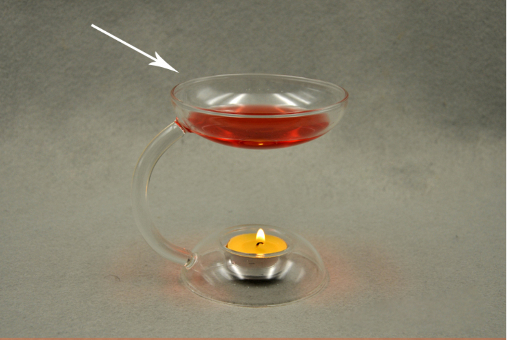 Clear Glass Candlestick Candle Stand Aroma Oil Burner