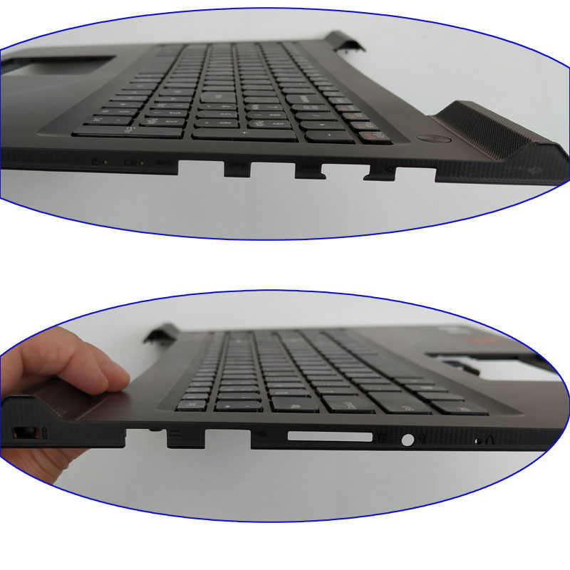 Free Shipping!!! 1PC Original 90% New Laptop Shell Case C Palmrest With  Keyboard For Lenovo ideapad 700-15ISK 700 700-15