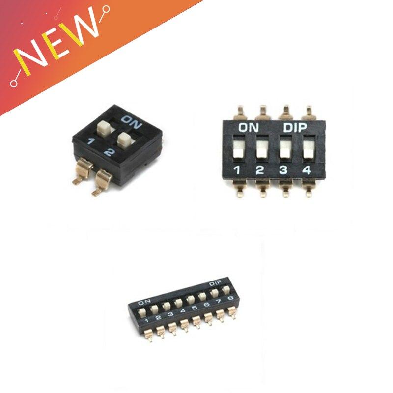10pcs-lot-slide-type-smt-smd-dip-switch-254mm-pitch-2-row-4-pin-2-position-8-pin-4-position-16-pin-8-position