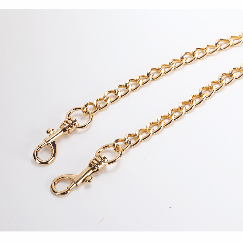 Cadena de correas trae un solo hombro paquete trae cadena oblicuo Satchel paquete cinta Litchi cinturón aumento cadena de Metal - 2