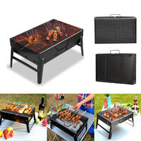 BBQ Barbecue Grill Folding Portable Charcoal Outdoor Camping Burner Patio Stove Family Party Multi functional BBQ Grill