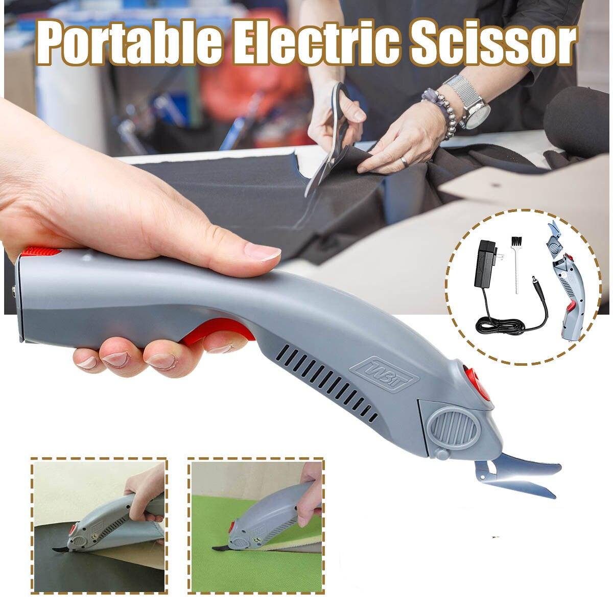 1 Pc 110 V-240 V 35 W Trinkwasser Elektrische Scissor Auto Cutter Power-angetrieben Schere Haushalt Industriell Tuch Mit Pinsel Neueste Technik