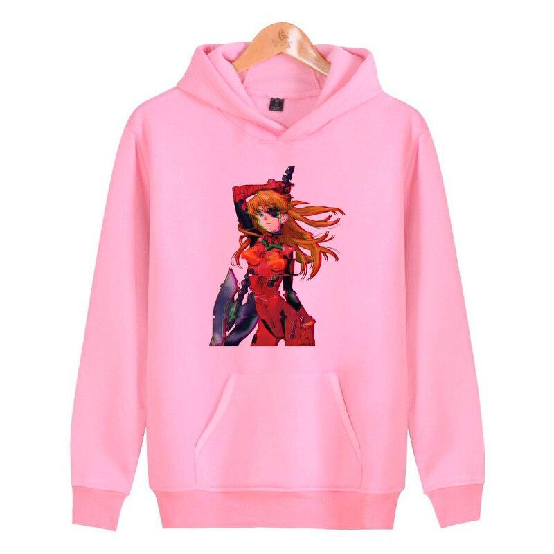 Neon Genesis Evangelion 2019 Slim Hoodies Men Sweatshirt Long Pullover Hooded Sportswear Letters Tracksuit Men/woman N3177 Hoodies & Sweatshirts