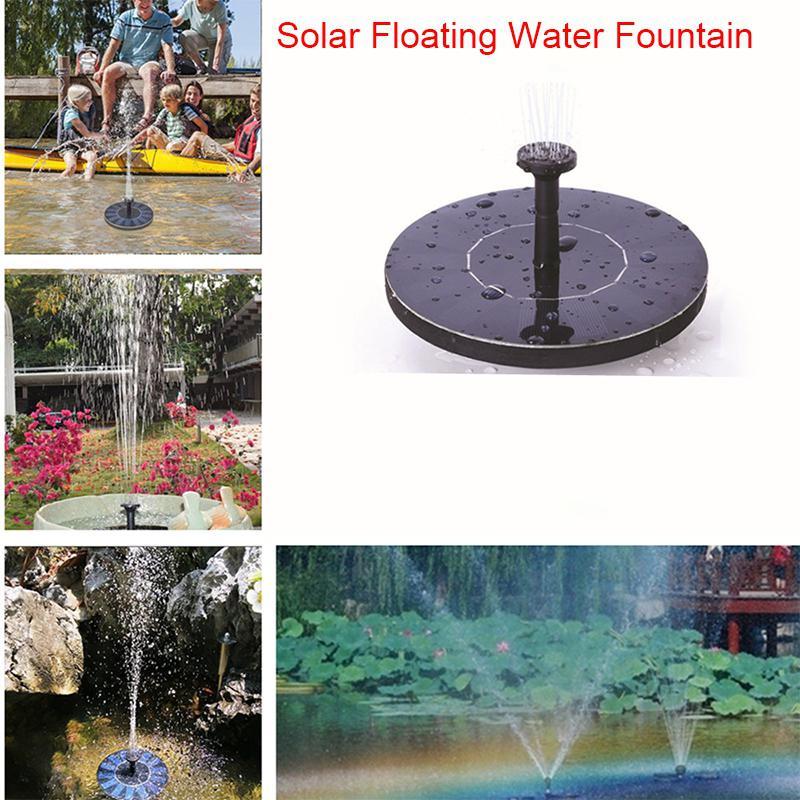MINI solaire alimenté flottant oiseau bain panneau d'eau fontaine pompe jardin étang piscine|Fontaines et bains d'oiseaux| |  -