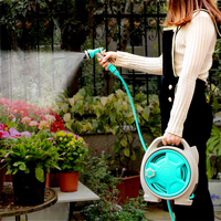 Portable Mini Portable Garden Water Hose Reel Garden Watering Car Jardin Washing Hose Pipe Storage Holder Kit Garden Hose