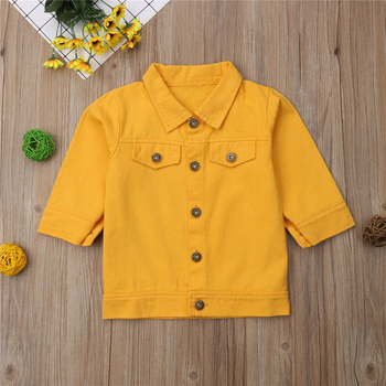 1-6Years Princess Kids Baby Girls Denim Jacket Button Coat Outerwear Tops Clothes 1
