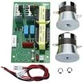 Ac 220 v 60 w-100 w Ultrasone Reiniger Power Driver Frequentie Tester Board Met 2 stuks 50 w 40 khz Transducers