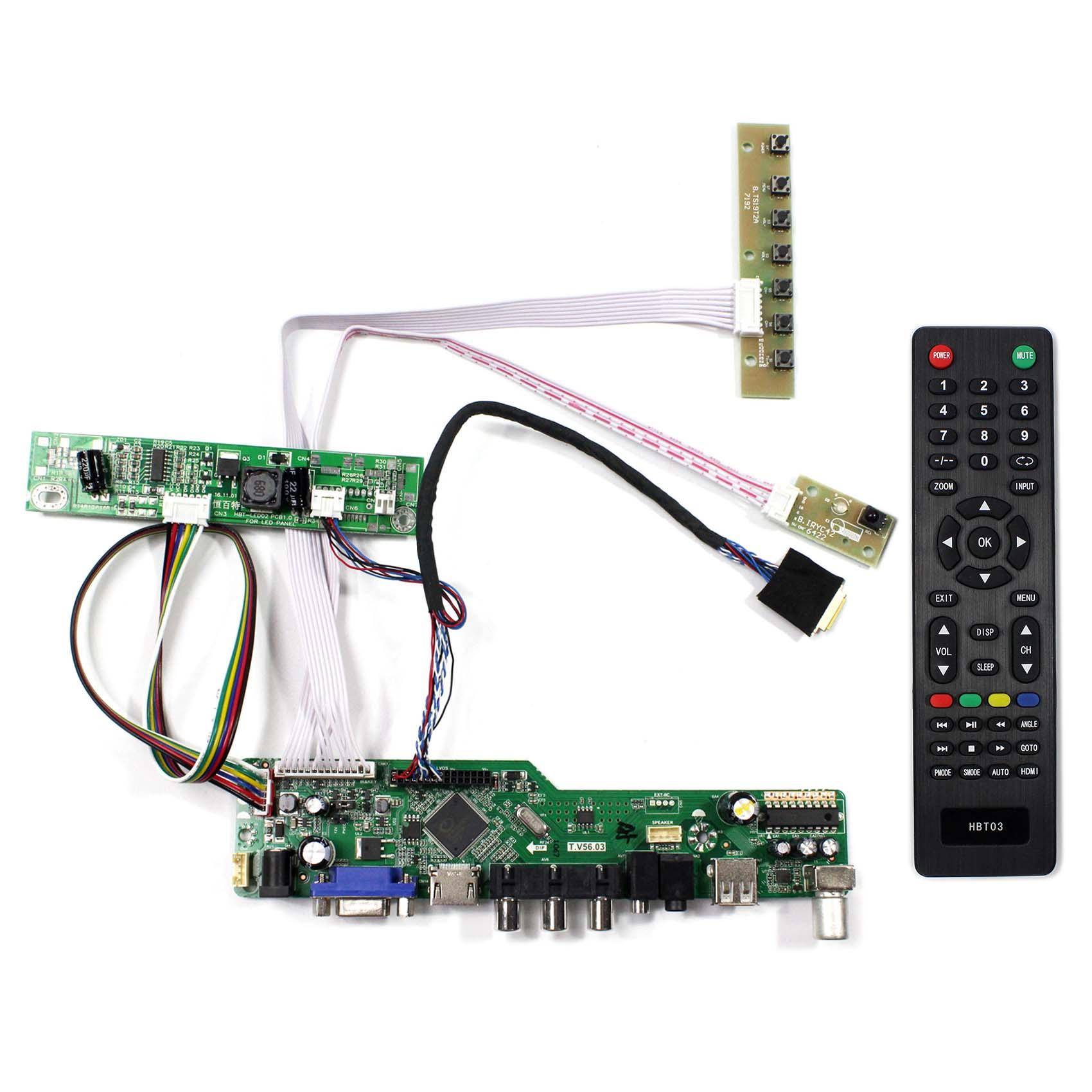 """にフィット 13.3 """"1280 × 800 hdmi ビデオ AV USB RF Lcd コントローラボード LTN133AT09 LP133WX3 N133IGE N133I6 L02 B133EW07 v2 Lcd ディスプレイ  グループ上の 家電製品 からの 交換部品 & アクセサリー の中 1"""