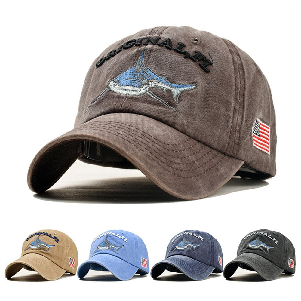 Conscientious Mounchain Unisex Embroidered Pattern Baseball Helmet Cap Denim Sun Shade Baseball Hat For Women Baseball Cap For Men Shark Caps A Wide Selection Of Colours And Designs Baseball Helmets Team Sports