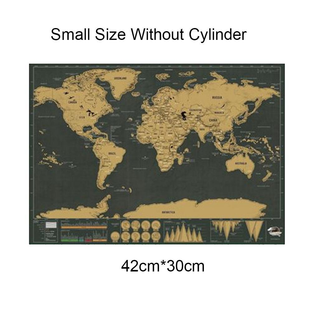 Deluxe Erase Black World Map Scratch Off World Map Personalized Best Travel Scratch School Office Stationery Supplies