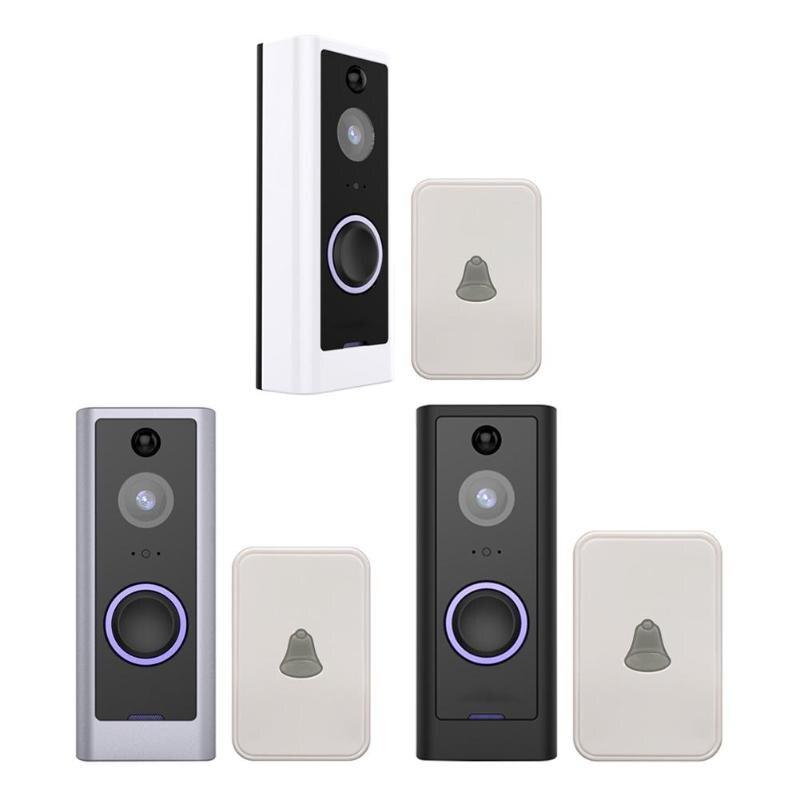 Peephole intelligent WiFi 720 p vidéo sonnette sans fil 130 grand Angle porte téléphone sans fil sécurité visuel interphone + carillon EU Plug