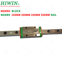 HIWIN MGN9H Long guide block carriages with MGNR9 guideway rail 150mm 200mm 250mm 350mm for DIY CNC parts