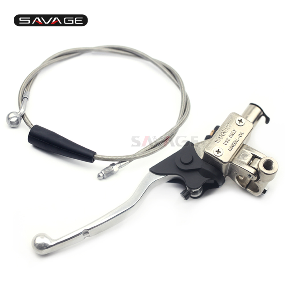 SAVAGE Hydraulic Master Cylinder Clutch Lever Oil Hose Pipe For KTM 250 300 400 450