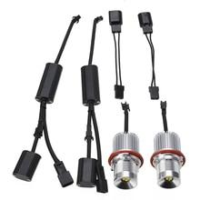 2pcs/set 40W LED Angel Eyes Marker Light Bulb with Wiring Harness Error Free For BMW E39 E60 E83 E53 цена