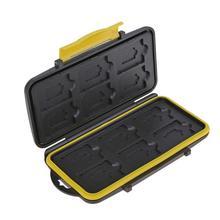 Multi grille 12 fente étanche stockage économie carte de dépôt support de la boîte résistant aux chocs cartes mémoire étui broche boîte de rangement étui