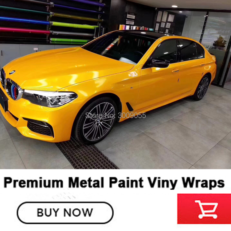 Premium Quality top glossy metallic vinyl wrap Vinyl Imported glue car wrap vinyl Various colors 1
