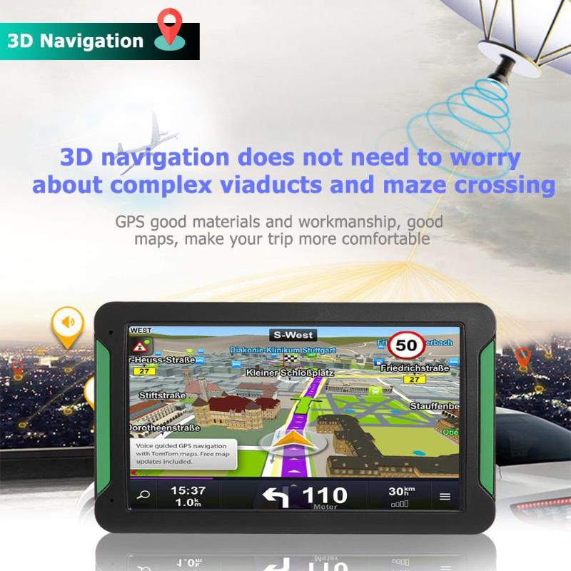 7 inch Touch Screen Auto Lkw GPS Navigation 128 MB + 8 GB RAM Multi Sprache Wiederaufladbare GPS Tourist Navigator mit Karten