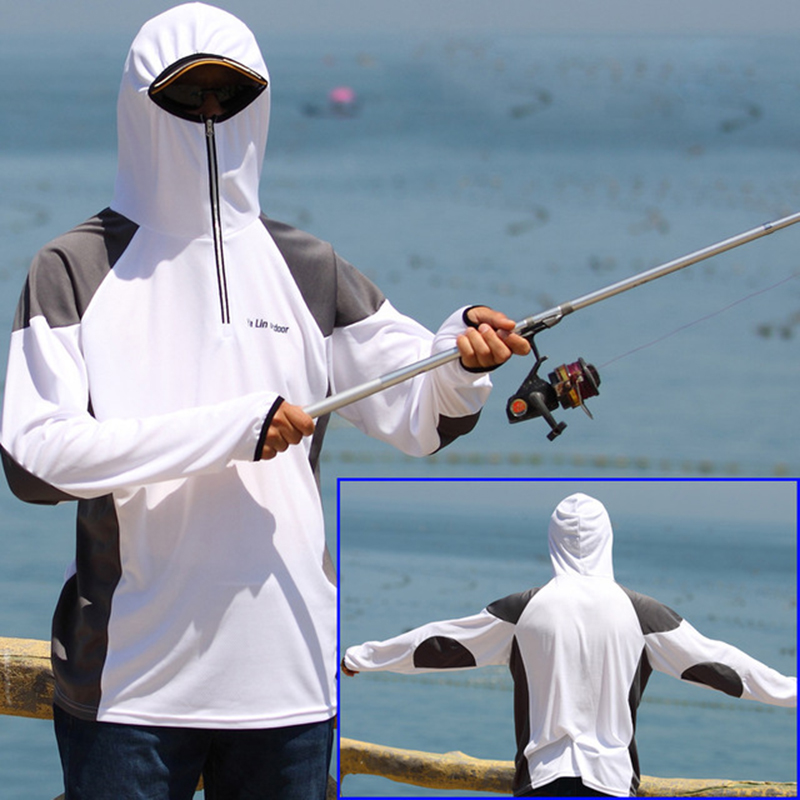 Fishing Clothing Outdoor Quick-Drying Anti-UV Breathable Sun Protection Shirt Coat Summer Man Sport Clothes Fishing Accessories