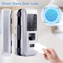 Fingerprint Lock Biometric Fingerprint Door Lock Electric Glass Door Lock With Touch Digital Keypad Smart Card Used Office Home jcsmarts jcf3301 goden color electric key card door lock fingeprint biometric lock with double tongue mortise